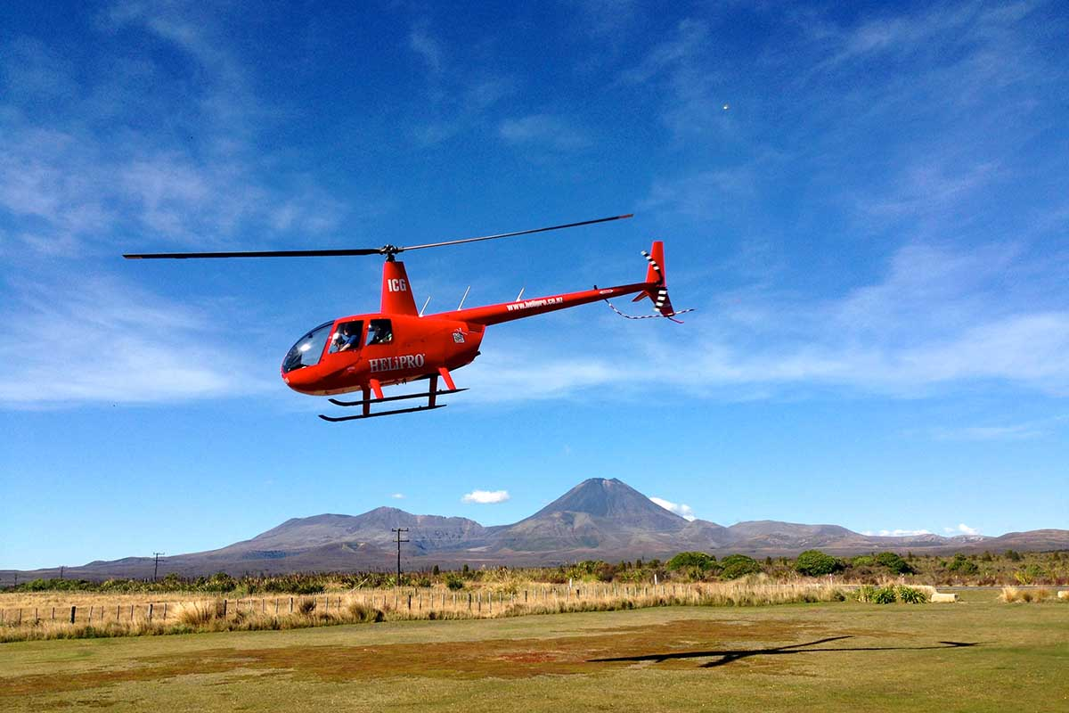 Helipro ZK-ICG take off from Discovery Helipad