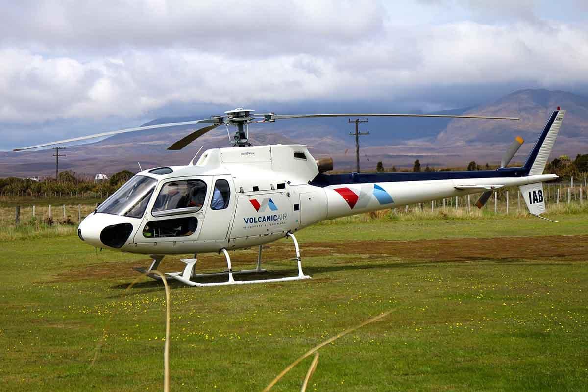 Volcanic Air ZK-IAB at Discovery Helipad Whakapapa