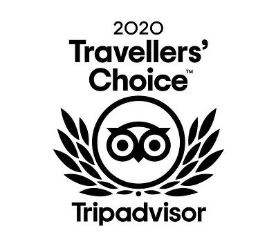 2020 Travellers Choice badge for Discovery Lodge Tongariro