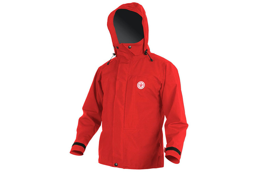 High quality Cactus rain jacket which can be rented from Discovery Lodge