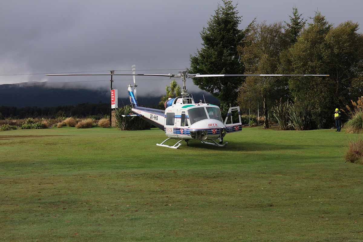 Beck Helicopters ZK-HHB at Discovery helipad Tongariro