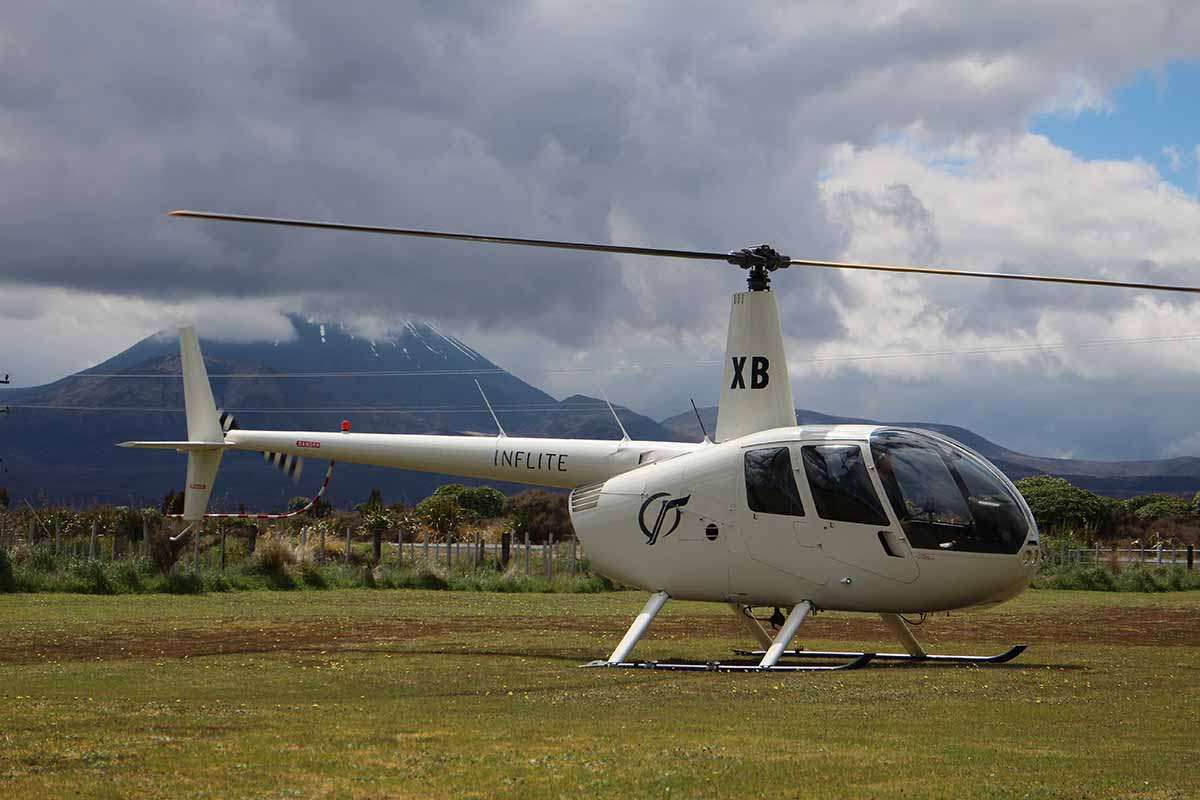 Inflite ZK-HXB at Discovery Lodge helipad