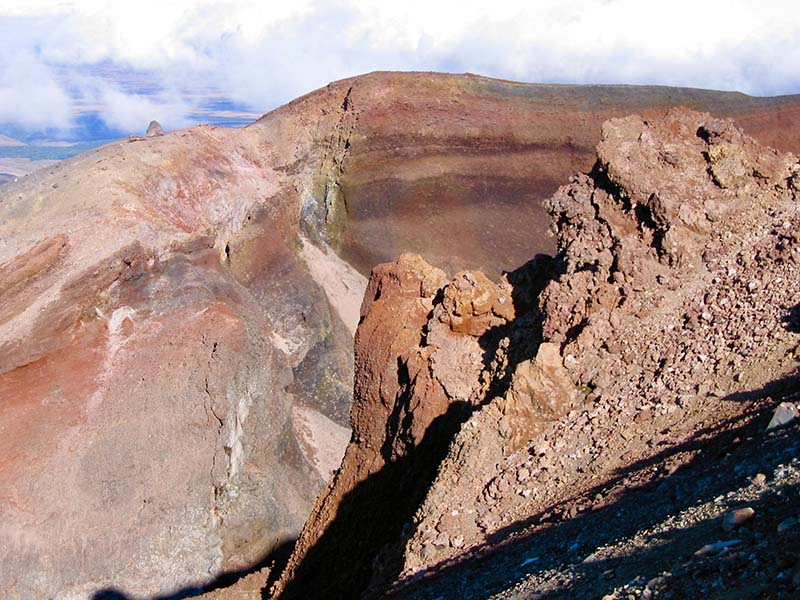 The volcanic Red Crater of Mt Tongariro