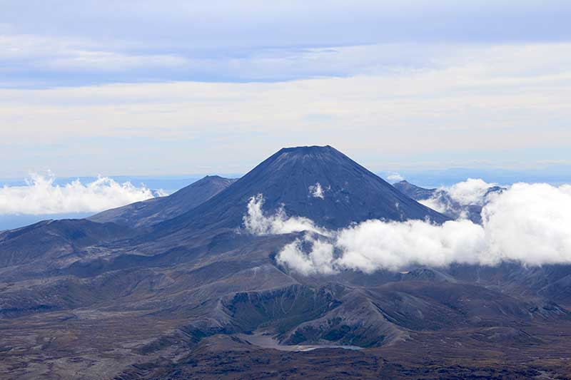 View of Mt Ngauruhoe from Whakapapa Mt Ruapehu